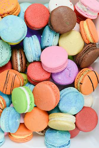 sweets pile of macarons confectionery