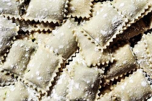 pasta pile of pasta ravioli