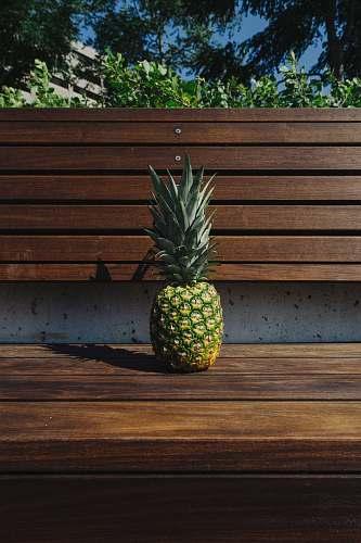 fruit pineapple fruit on bench pineapple