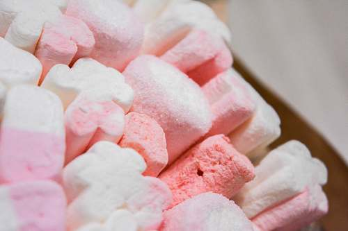 sweets pink and white marshmallows confectionery
