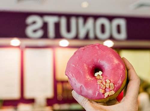 dessert pink doughnut pastry