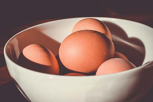 egg raw eggs on bowl bowl