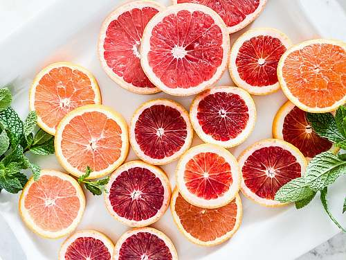 fruit red and orange grapefruits citrus fruit
