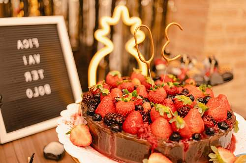 plant red strawberry cake fruit