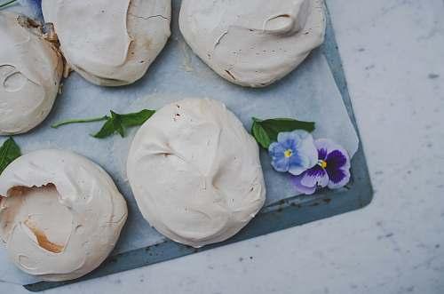 flower round pastries dessert