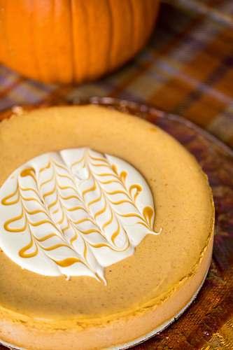 cream round pastry custard
