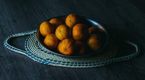 fruit round yellow fruits on tray citrus fruit