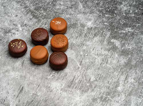confectionery six round chocolates sweets