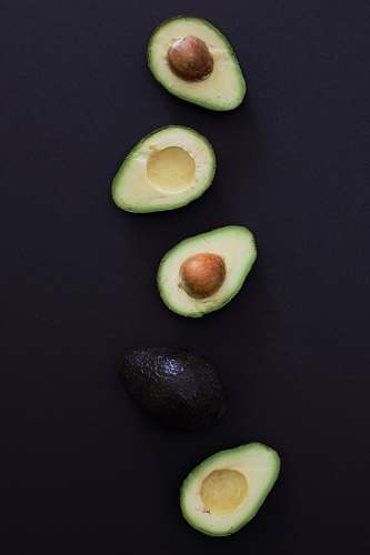 fruit slice of avocado plant