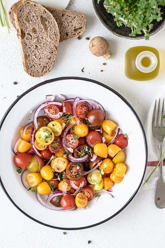 meal slice tomatoes bowl