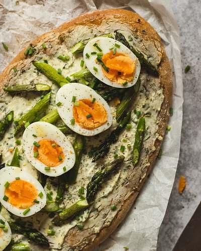 plant sliced boiled eggs egg