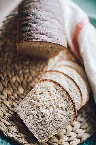 bread sliced bread on brown panel kiev