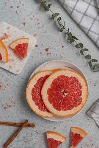 grapefruit sliced grapefruits fruit