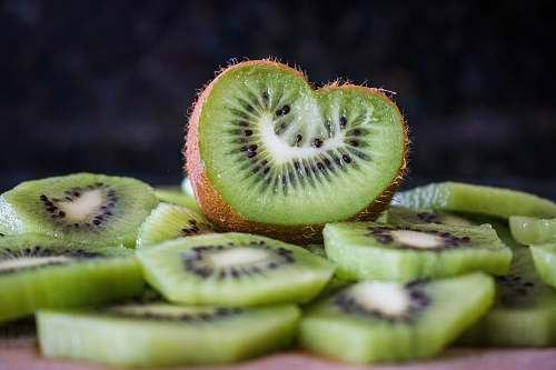 fruit sliced Kiwi fruit kiwi