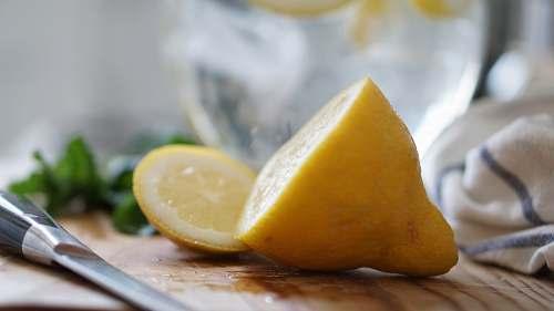 fruit sliced lemon citrus fruit