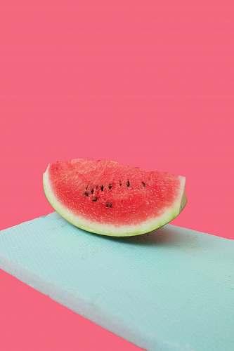 fruit sliced watermelon flora