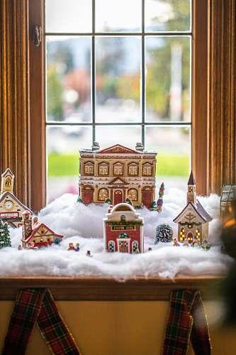 cookie snow village figurine biscuit