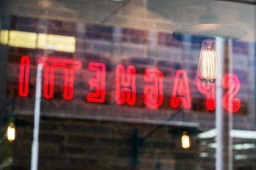 restaurant spahhetti signage neon