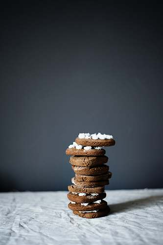 bread stacked cookies on grey surface cracker