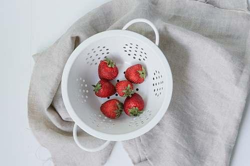 fruit strawberries on basket plant