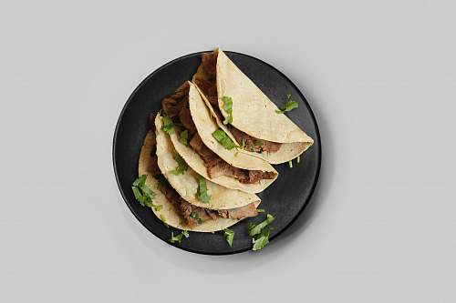 bread taco on plate pita