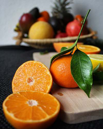 fruit tangerines selective focal photo orange
