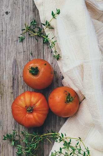 plant three orange tomato fruits produce