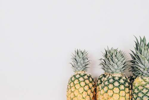 fruit three yellow pineapples pineapple