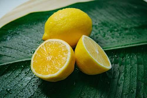 orange two lemons citrus fruit