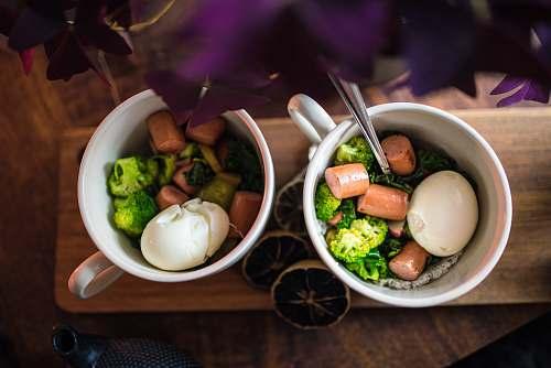 egg vegetable salad bowl