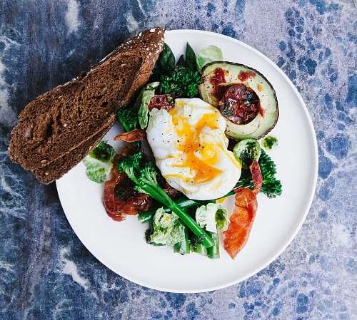 plate vegetable salad served on plate meal