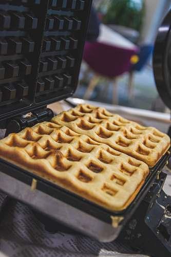 waffle waffles in waffle maker pizza