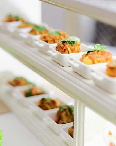 meal white ceramic platter lunch