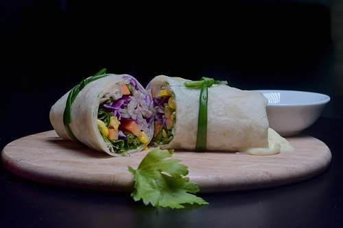 burrito wrapped food roll