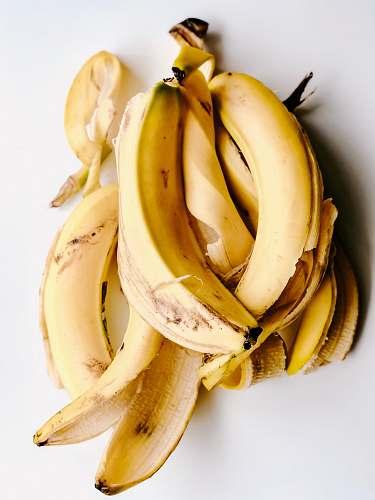 fruit yellow banana peels banana