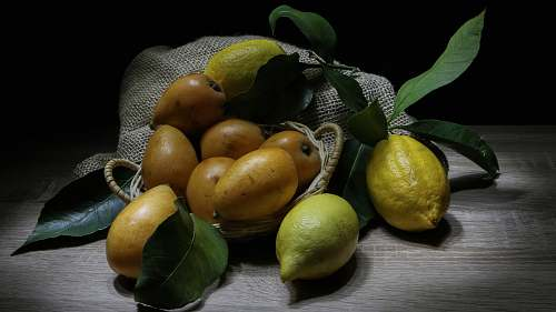 plant yellow fruits on brown surface fruit