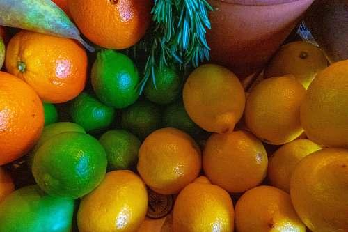 food assorted-color fruit lot citrus fruit
