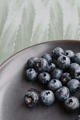 plant blackberries on plate blueberry