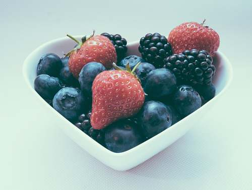 blueberry bowl of fruits food