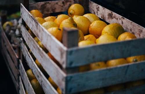food box of limes orange