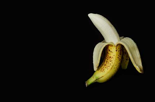 food ripe banana peeled off banana
