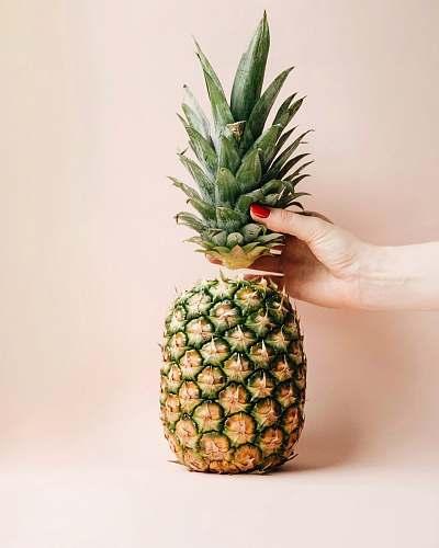 food sliced tip pineapple plant