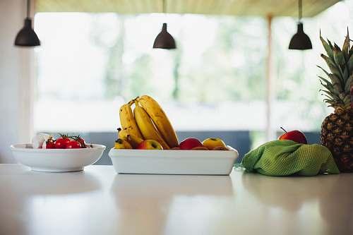 food yellow banana fruit on bowl plant