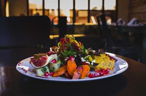 food vegetable salad dish