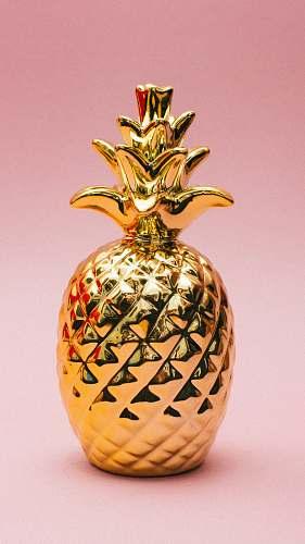 fruit gold pineapple decor pineapple