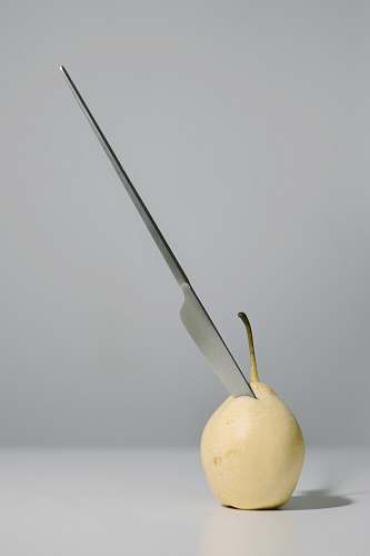 food gray knife pear
