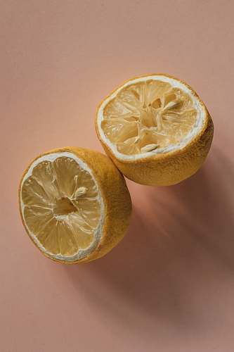 fruit one sliced lemon citrus fruit