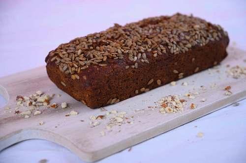 bread photo of brownies on brown wooden board food