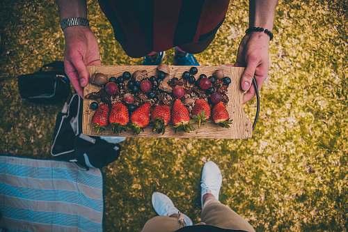 food red strawberries fruit