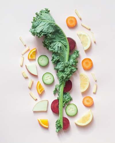 fruit sliced vegetables food